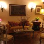 One of their sitting rooms in the lobby of the hotel