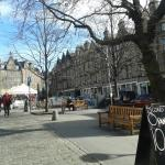 Grassmarket outside the hotel