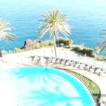 Looking down to the outdoor pool