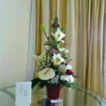 My flowers organized by the hotel