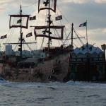 At 7pm 2 pirate ships comes quite close to the resort every evening all lit up