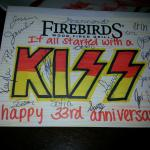 Firebirds Anniversary Card - Staff is Outstanding