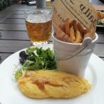 Omelette and hand cut chips for €11 (not on menu).