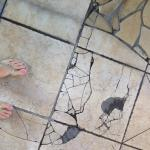 Cracked tile around the pool!