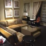 Living room area of suite