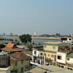 The Mekong River, viewed from the roof of the hotel