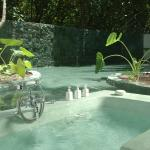 Villa Outdoor Bathroom and Water Garden at Soneva Fushi