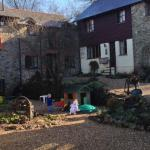 Children playing in the courtyard -Feb half term 2015