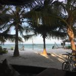 View from restaurant to the beach...