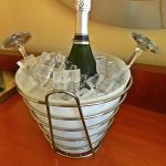 Complimentary champagne to celebrate my gold rewards status