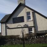 Gable end of guest house