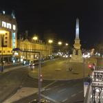 Picture of the plaza from our balcony at night