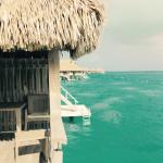 View from over the water bungalow