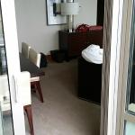 View into the suite from the balcony