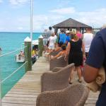 Line to get on the boat to private island!!!!
