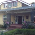The front of the B&B from the sidewalk