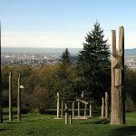 Burnaby Mountain with View of Vancouver