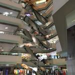 Inside shopping mall attached to hotel