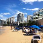 Strip of hotels on Condado Beach