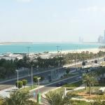 view from 5th floor of the new wing at Hilton Abu Dhabi