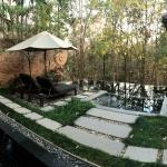 Pano view of the pool area