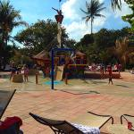 Kids play area splash area and water slide - Indies Club