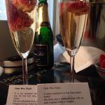 Complimentary bubbly for our anniversary!
