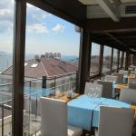 View from the restaurant at the top of the Bosphorus