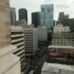 View from our room looking out on the downtown Houston skyline