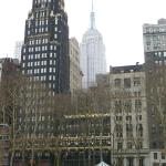 Bryant Park Hotel with Empire State Building 6 blocks away