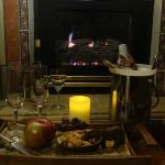 Fireplace & welcome drink
