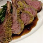 Crusted rack of lamb.