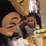 Minnie signing an autograph at our breakfast
