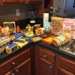 Trader Joes less then 5 miles away. Stocked the kitchen for breakfast supplies. Kitchen has all