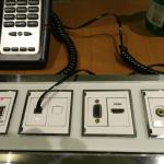 Panel on the table - interesting but I only used the USB to charge my devices