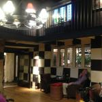 The glorious bar area - which is an ancient baronial hall.