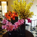 Flower Arrangement near Restaurant