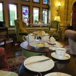The reception lounge was wonderfully cosy and the tea very welcome