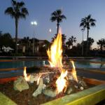 fire pit at outdoor lounge area