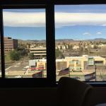 Nice open view of foothills from 6th floor.  Street is a little noisy.