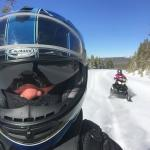Snowmobiling from your cabin door.