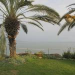 Our cabin and a view of the Sea of Galilee