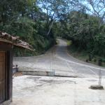 Road to the plantation and top of mountain