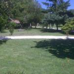 Exploring the extensive grounds of the hotel and taking up an offer of sunloungers and a complim