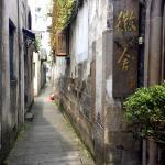 Alley leading to entry