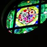 Beautiful stain glass window, in the lobby.