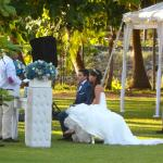 A wedding on the grounds