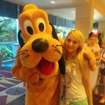 Pluto in the hotel lobby