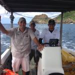 A fabulous crew on the fishing boat