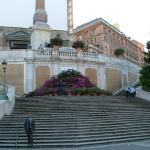 The walk up the Spanish Steps